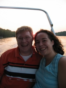 Maria and Michael on the Wisconsin River